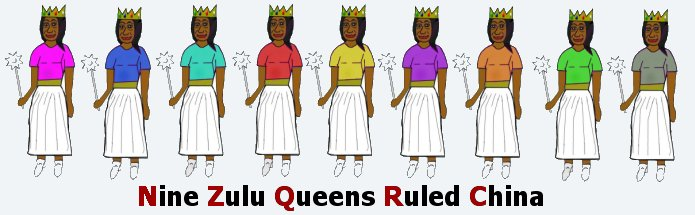 Nine Zulu Queens Rule China